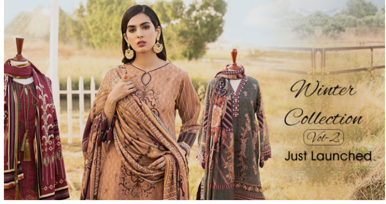 Winter Collection Sale on Women Unstitched Suits!