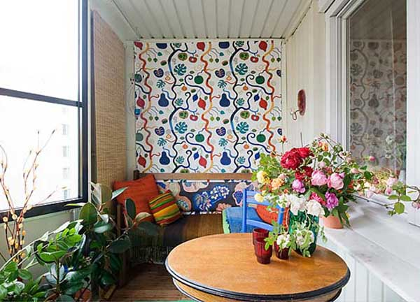Wall painting design idea for the balcony