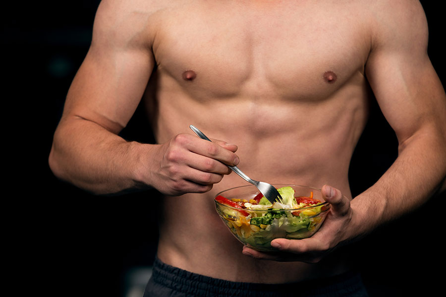 The link between plant-based content in diet and testosterone levels